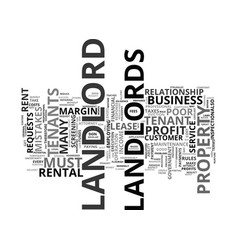 The costliest landlord mistakes text background vector