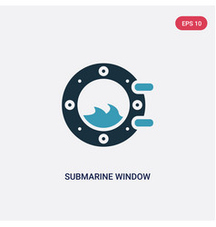 two color submarine window icon from nautical vector image