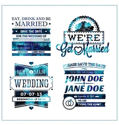 Wedding invitation geo vector image