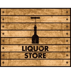 Wine store vector image