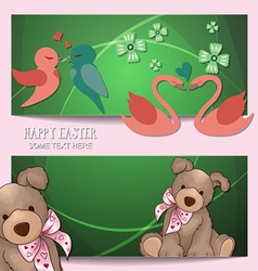 With spring and spring flower vector