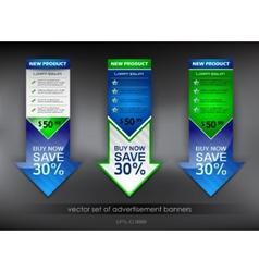advertisement banners vector image