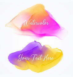 bright watercolor stain texture background vector image vector image