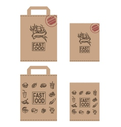 fast food packages set vector image vector image