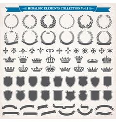 Heraldic Elements Set 1 vector image