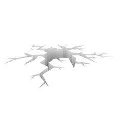Crack Designed Hole Crash Concept vector image