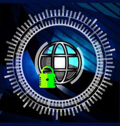 Cyber security closed padlock vector