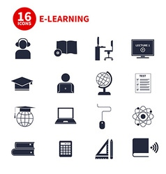 E-Learning Icons vector image vector image