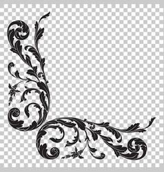 isolate corner ornament vector image vector image