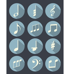 Music note flat design vector image vector image