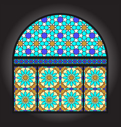 stained glacc window vector image vector image
