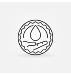 Charity blood donation badge vector image