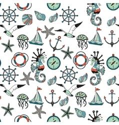 Sea theme vector image