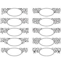 set of decorative frames vector image vector image