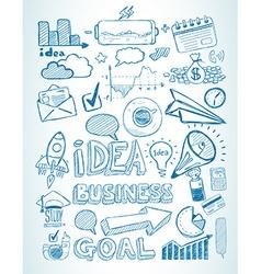 Business doodles Sketch set infographics elements vector image vector image