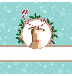 Candy deer card vector image vector image