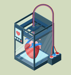 Creating artificial heart on three dimensional vector