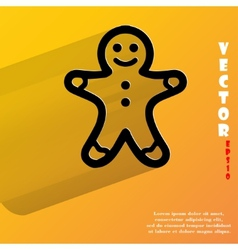 Gingerbread Flat modern web button with long vector image