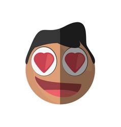 love emoticon cartoon design vector image