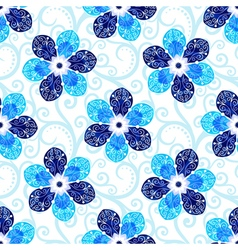 Repeating white floral pattern vector