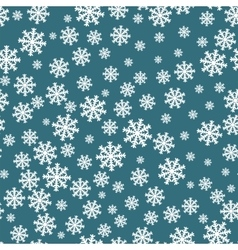 Snowflakes seamless pattern Snowflake background vector image vector image