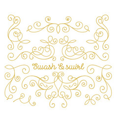 swashes and swirls set vector image