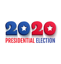2020 presidential election in usa vector image