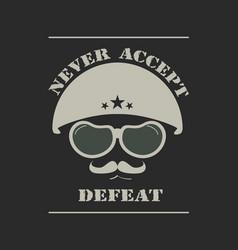 Army helmet emblem vector