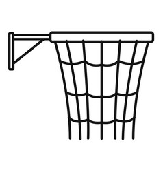 basketball basket icon outline style vector image
