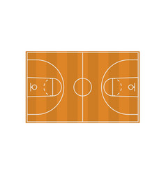 Basketball field diagram in flat style vector