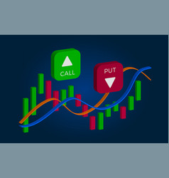 Binary option - call and put buttons vector