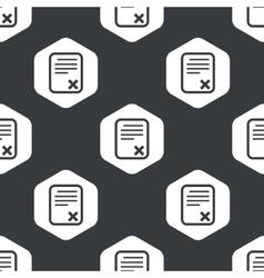 Black hexagon declined document pattern vector