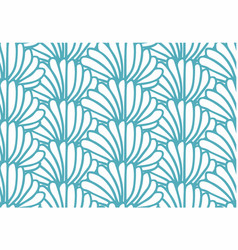 blue bushes pattern vector image