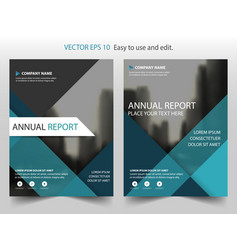 Blue material design brochure annual report vector