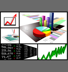 business graphic set vector image