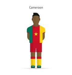 Cameroon football player Soccer uniform vector image
