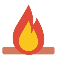 Camp fire burning brightly vector