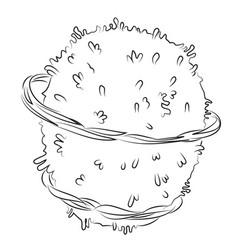 Cartoon image of planet vector