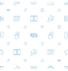 cash icons pattern seamless white background vector image