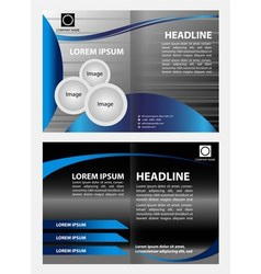Corporate business brochure design vector