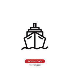 cruise icon ship transportation symbol vector image