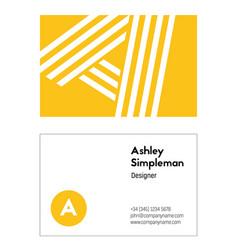 designer business card template vector image