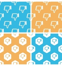 Dislike pattern set colored vector