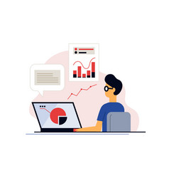 distance working or education from home vector image