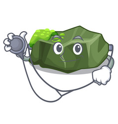 doctor cartoon green rock sample of high grade vector image