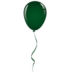 Drak green balloon ribbon vector