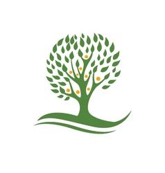 Eco Tree Logo Template vector