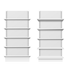 empty store shelves blank retail shelf design vector image