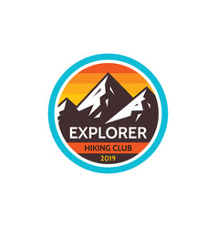 explorer adventure outdoors - concept badge vector image