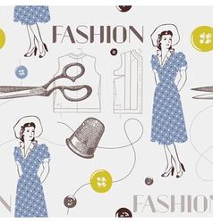 Fashion background vector image